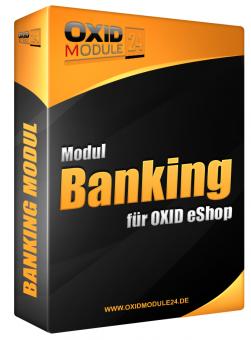 Banking Modul für OXID 4.7.x/5.0.x - 4.10.x/5.3.x | Testlizenz (1 Monat)