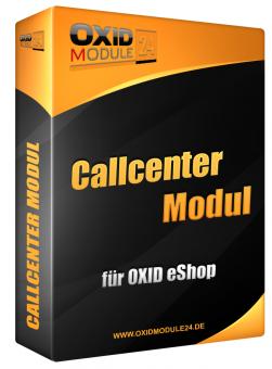 Callcenter Modul für OXID 4.7.x/5.0.x - 4.10.x/5.3.x | Dauerlizenz (Unbefristet)